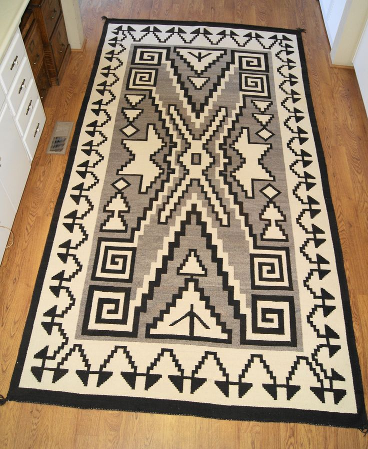 Fine Rug Designs And Patterns Two Grey Hills Storm Pattern Variant Navajo Intended Decorating Ideas