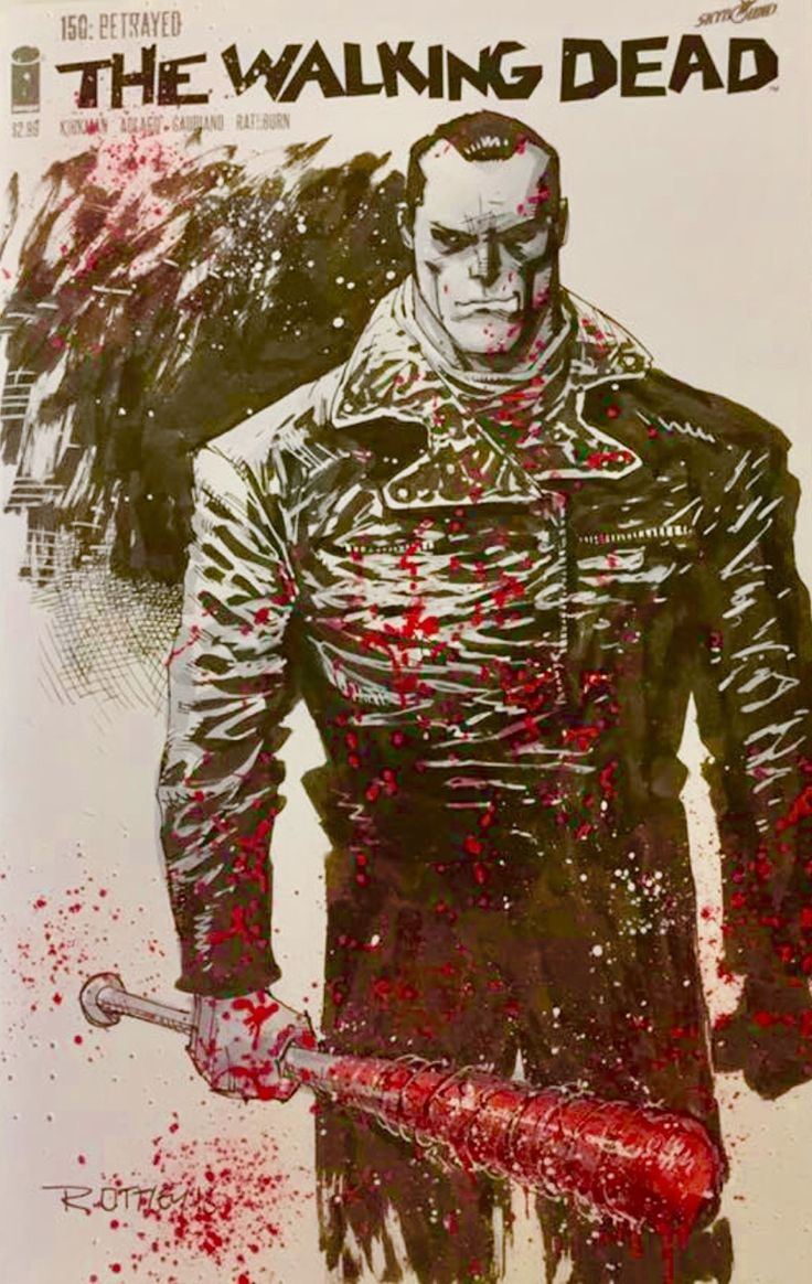 Negan Sketch Cover - Ryan Ottley