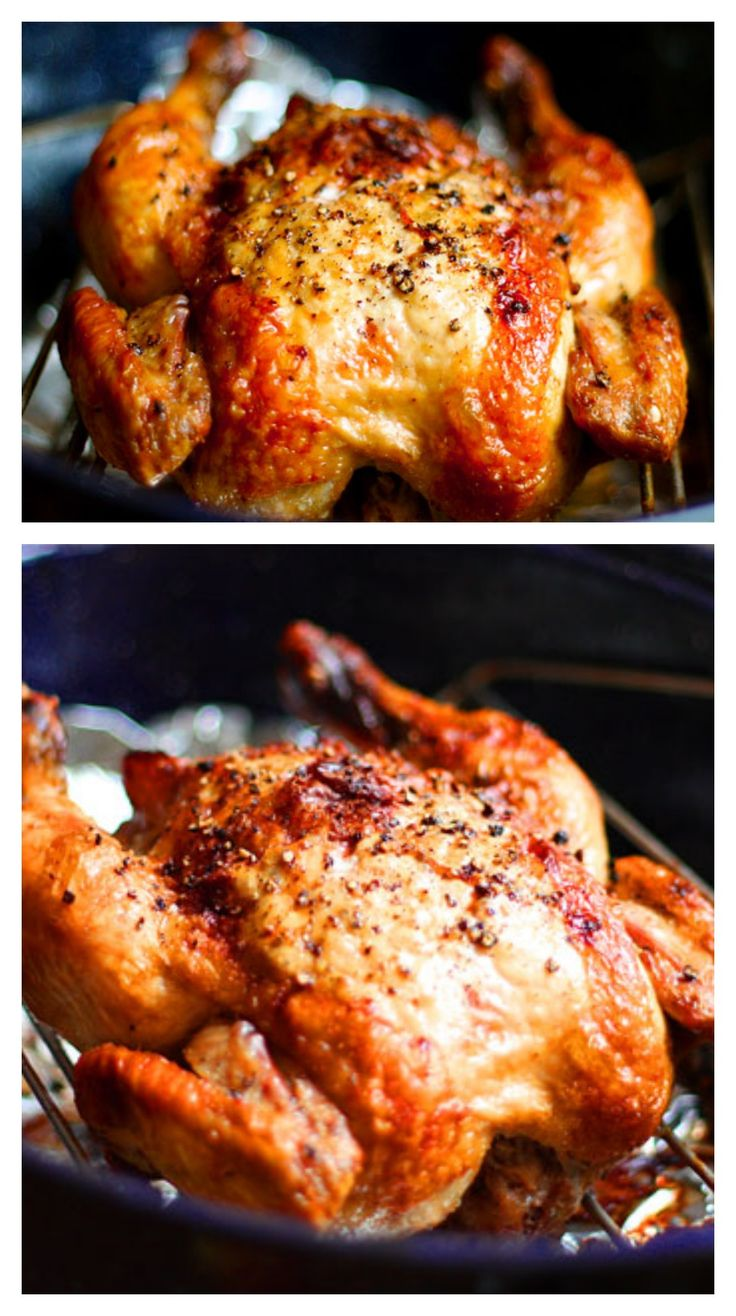 Crispy Roasted Garlic Chicken: Learn how to make your own roast chicken! It is SO easy, and you can know exactly what ingredients are being added in.