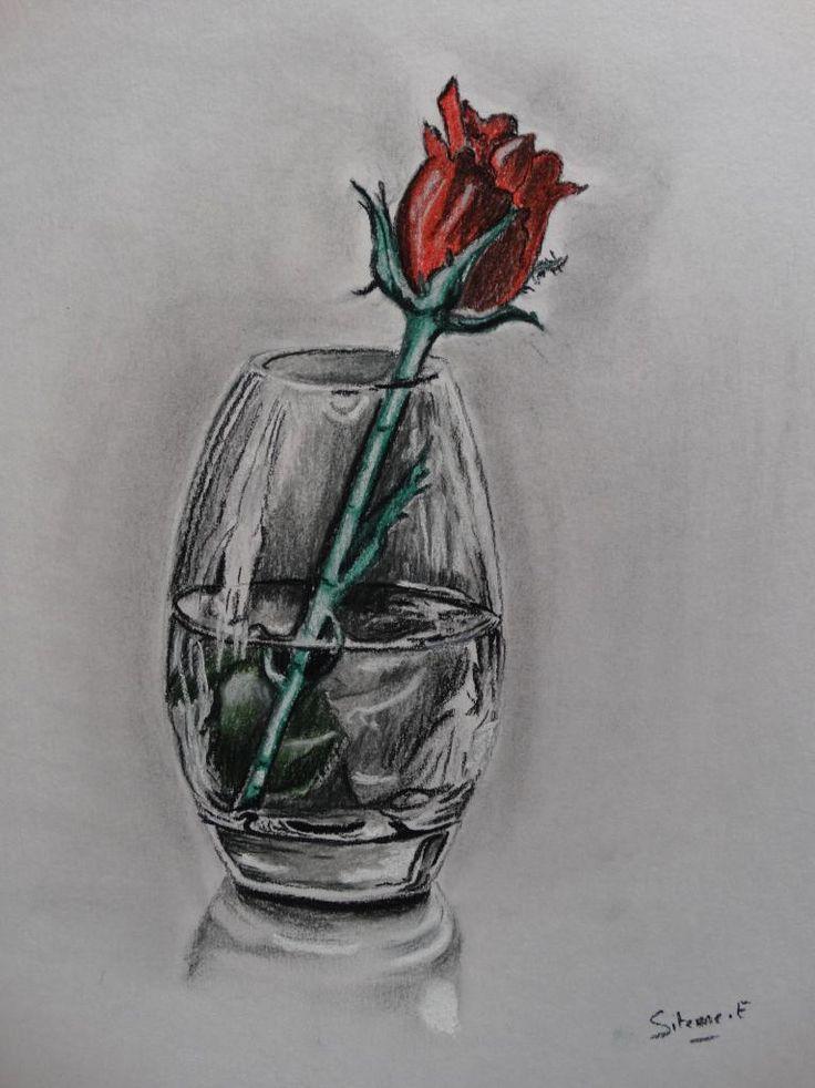 Les 302 meilleures images propos de dessins crayons et - Dessiner un vase ...