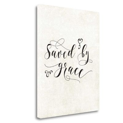 Tangletown Fine Art 'Saved by Grace' by Tara Moss Textual Art on Wrapped Canvas