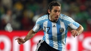Jonas Gutierrez playin for the argies in the 2010 World Cup #NUFC