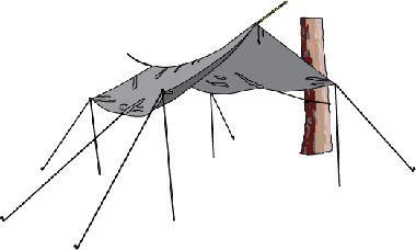 How to setup tarp shade area