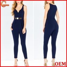 Plunging v neck sleeveless metal detail jumpsuit for women 2015 Best Seller follow this link http://shopingayo.space