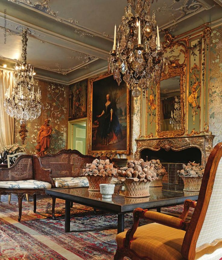 Chateau de Deulin, Luxembourg, Belgium    Built and decorated in the 18th century    via AntiqueShops magazine v.9