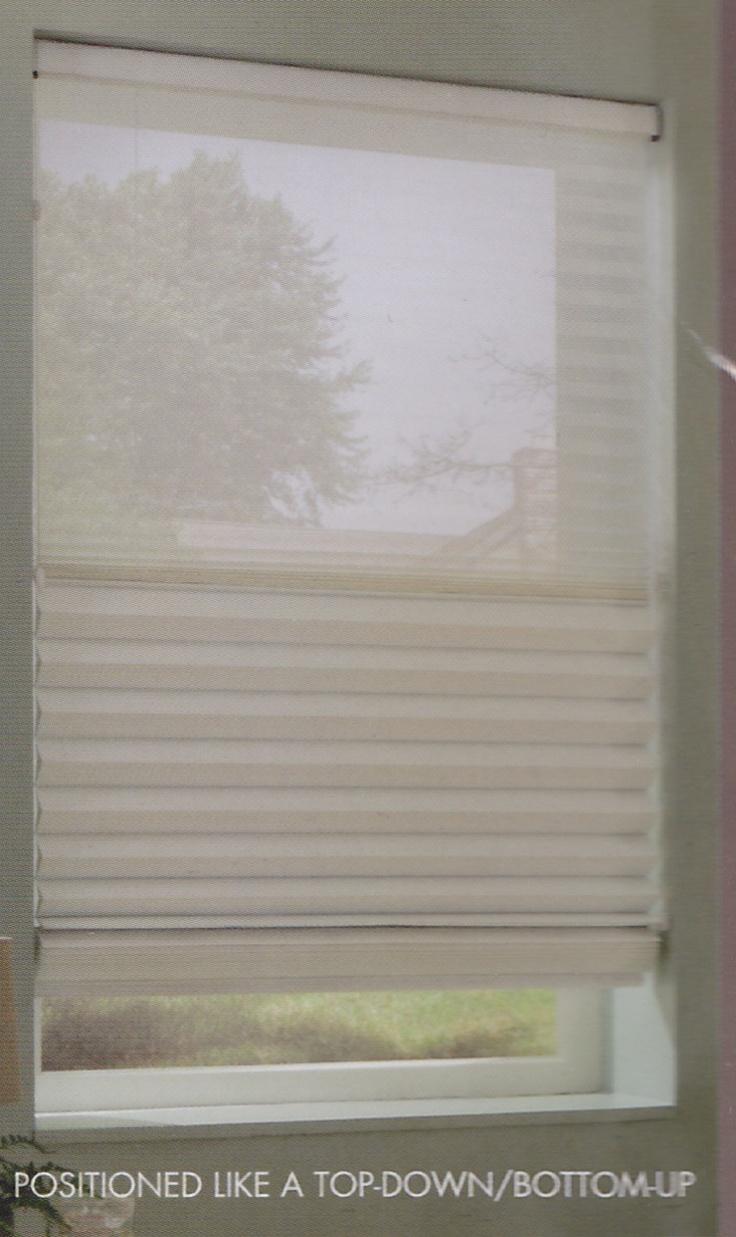 Top down bottom up roman shade - Trilight Window Shade Positioned As A Top Down Bottom Up This Shade