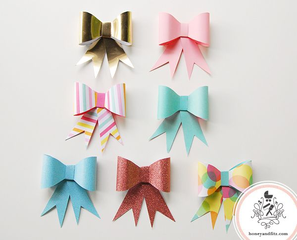 12 best Fabric\/Felt\/Glitter Bows images on Pinterest Hair tie - bow template
