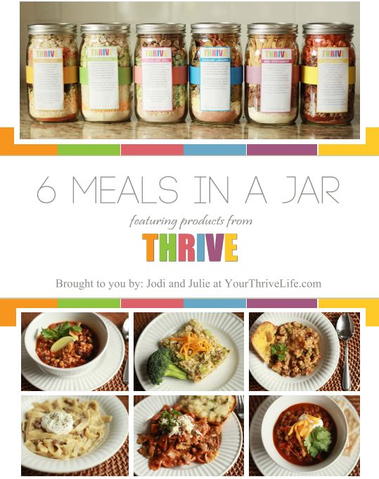 """Meals-in-a-Jar eCookbook:  6 delicious and healthy """"just add water"""" meals you can store in a jar for everyday emergencies or longer term food storage"""