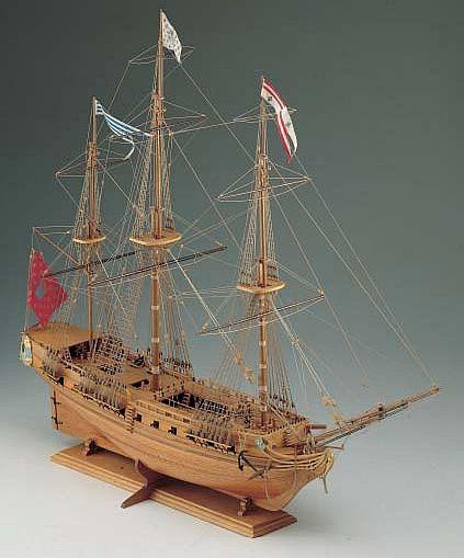 Ship Model Corel Sirene 18th Century French Frigate