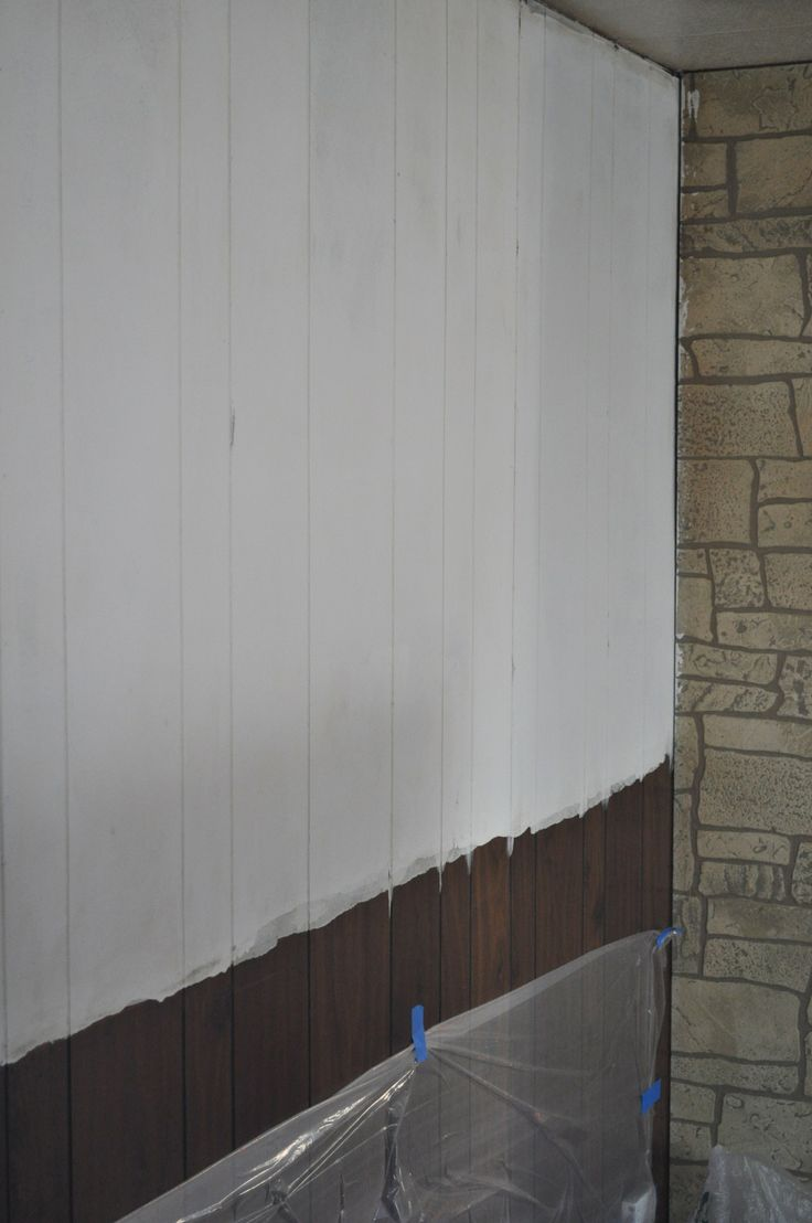 DIY  Paneling cleaned deglossed and primed Ready to