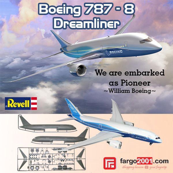 Revell 1/144 Boeing 787- 8 Dreamliner ! Get Yours NOW at http://fargo2001.com/perlengkapan-bayi-amp-anak-anak-128/mainan-edukatif-74/model-kit-87/revell-1-144-boeing-787-8-dreamliner-219.html