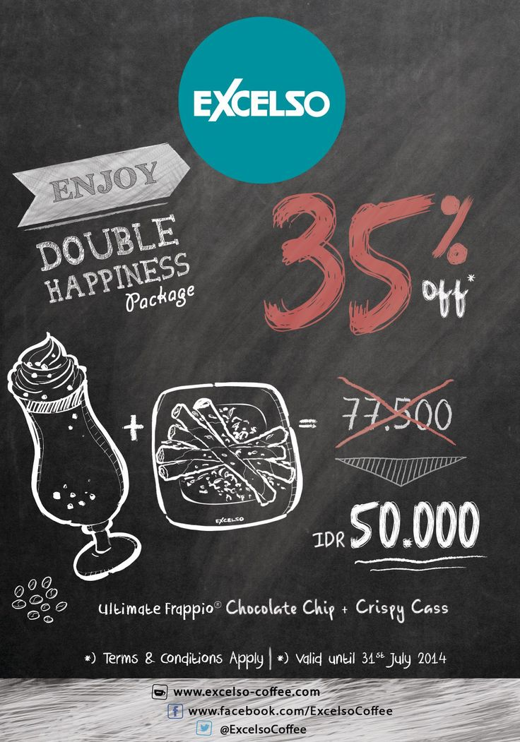 Excelso: Promo Double Happeness, Discount up to 30% Off @excelsocoffee