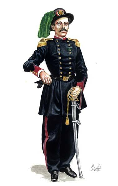 1863 - Capitano dei Bersaglieri in grande uniforme