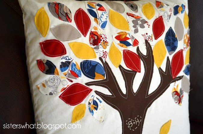 Autumn tree pillow tutorial