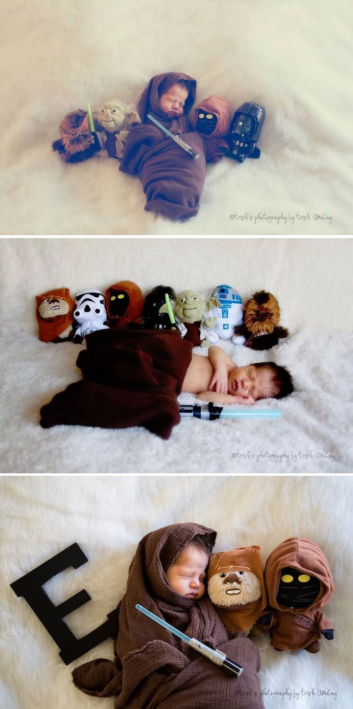 """This family gave their newborn baby a """"Star Wars""""-themed…"""