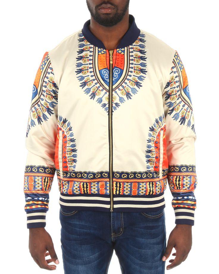 Buy Oakbay Dashiki Satin Bomber Jacket Men's Outerwear from Oakbay. Find Oakbay fashions & more at DrJays.com