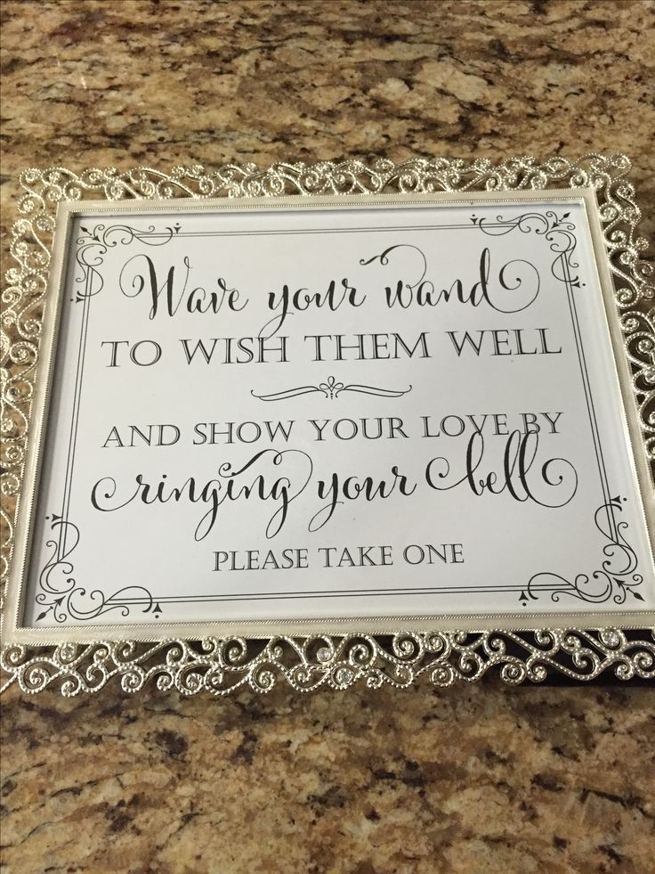 Wedding wand sign                                                                                                                                                     More