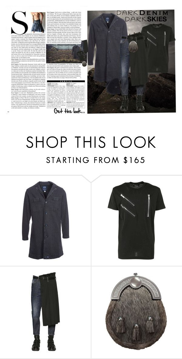 Dark Skies by bella0678 on Polyvore featuring Dsquared2, Bleu de Paname, ibex, men's fashion, menswear, darkdenim and menswearessential