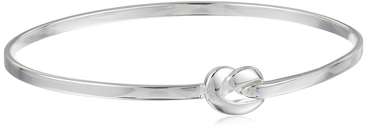Sterling Silver Love Knot Bangle Bracelet, 8' ** Read more reviews of the product by visiting the link on the image.
