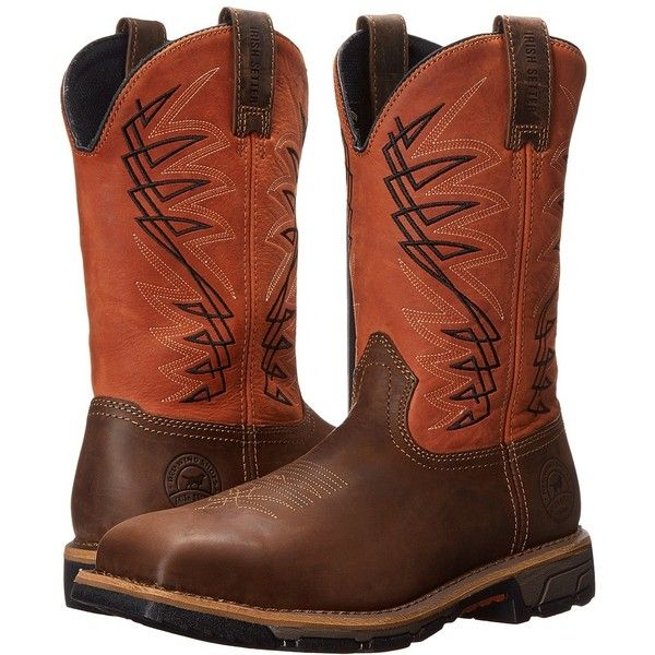 Irish Setter Marshall 83910 (Rust/Brown) Men's Work Boots ($153) ❤ liked on Polyvore featuring men's fashion, men's shoes, men's boots, men's work boots, mens work boots, men's pull on work boots, mens steel toe boots, mens lightweight snow boots and mens brown combat boots