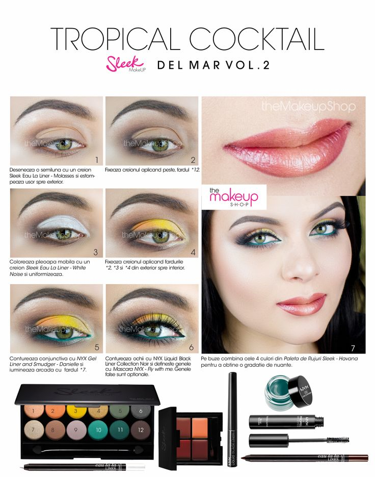 Paleta Farduri Sleek Del Mar Vol II - Makeup Shop