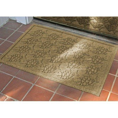 Aqua Shield Tropical Fish Mat Color: Camel by Bungalow. $34.99. 706500023 Color: Camel Features: -Surface material: Premium 24 oz. polypropylene.-Origin: USA.-Green friendly with over 20pct recycled rubber backing.-Low profile design allows most doors to glide easily over it.-Will not crush, fade, mold, mildew or rot.-Anti-static and flame resistant.-Suitable for multiple uses throughout your home, outdoor space, workplace or garage.-Easy to clean - shake to re...