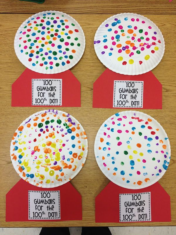 100th day - use a q-tip to increase fine motor