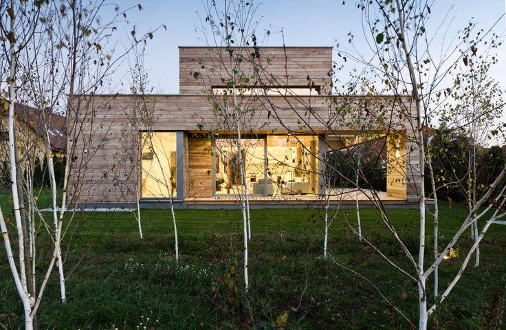 Dieses moderne Holzhaus verbindet entspannte Natürlichkeit…
