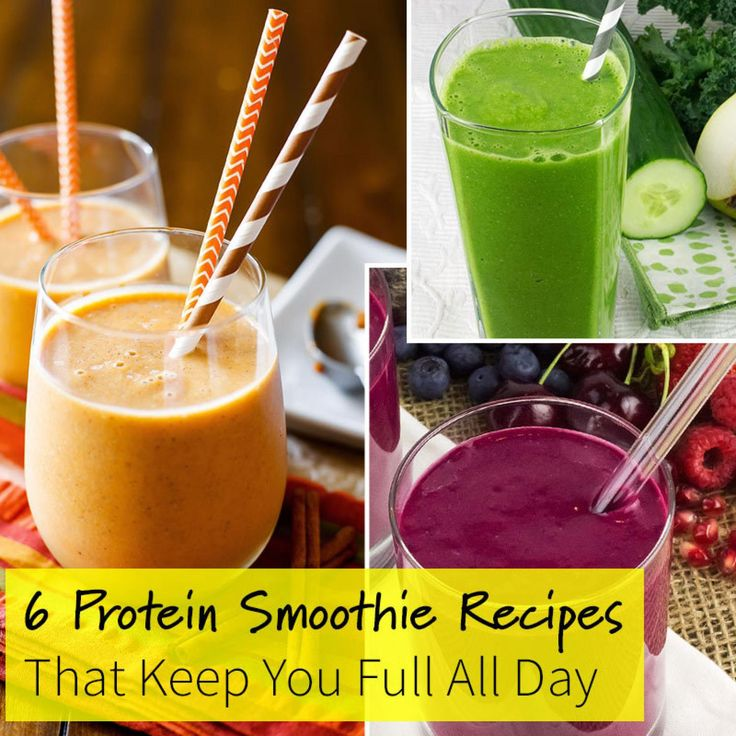 6 Protein Smoothie Recipes That Keep You Full All Day. I'm trying these without the nuts..