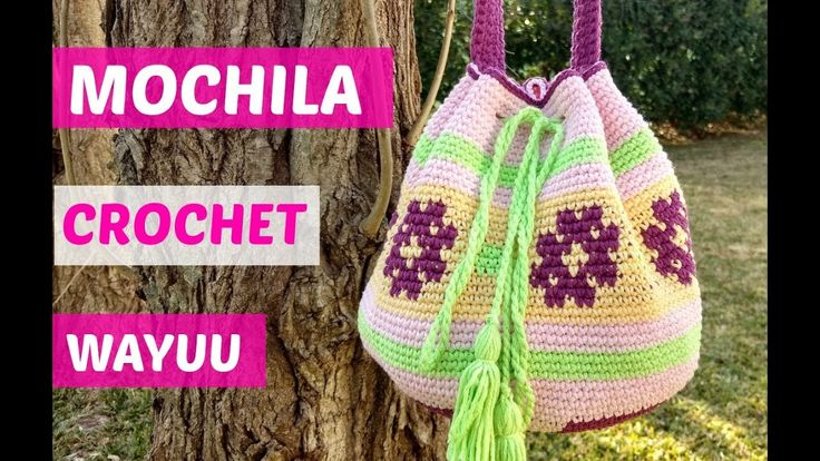 Mochila Wayuu crochet paso a paso