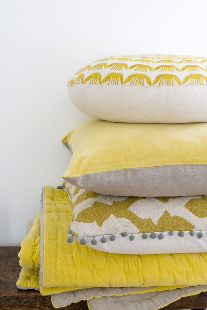 The inspiration for Niki Jones' cushions comes from her time spent travelling the globe.