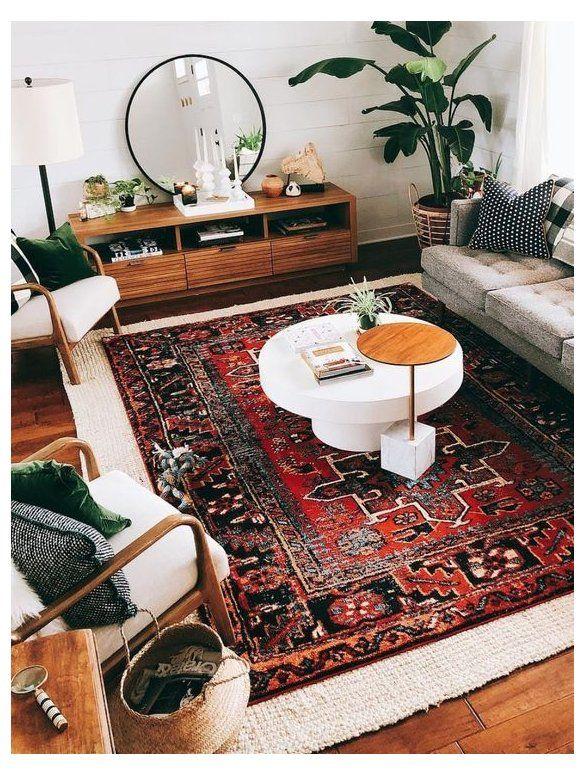 35 Beautiful Rugs Ideas And Design For Livingroom Modern Rug Design Modernrugde Mid Century Living Room Decor Rustic Chic Living Room Rug Decor Living Room