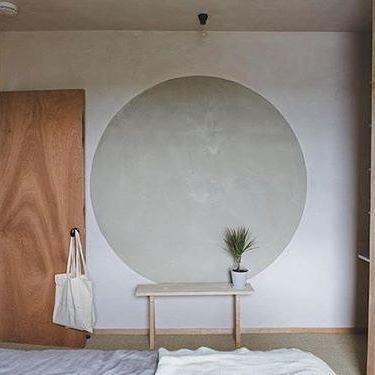 "circle motifs in London architect Simon Astrodge's ""Plywood House,"" via @fvonf"