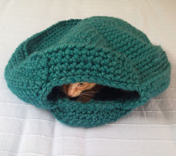 Handmade cat cave, Crochet Cat igloo, Cat bed, Cat blanket, Cat cocoon, Cat nap, Pet accessories by justknitted1 on Etsy