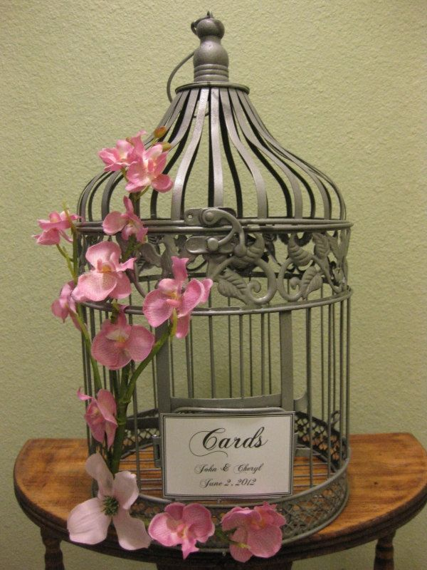 Wedding Gift Card Birdcage Lading for