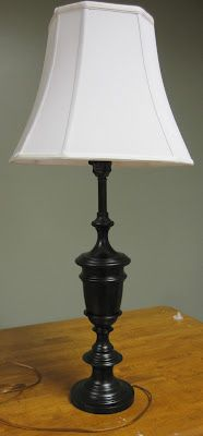 Lamp Redo: Before & After - DIY on the Cheap