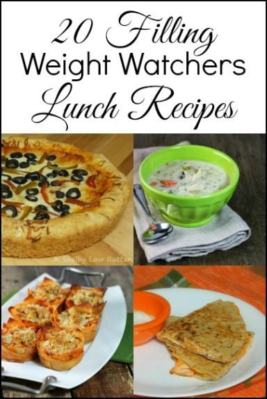 20 Satisfying Weight Watchers Lunch Recipes - this is great if you're trying to eat healthy but are struggling to find meal ideas that work for lunch!