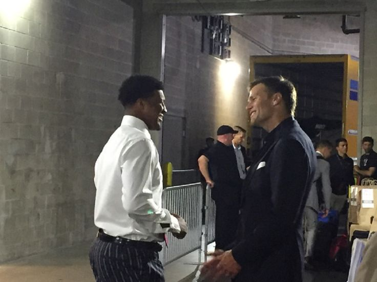 New England Patriots quarterback Tom Brady and Tampa Bay Buccaneers quarterback Jameis Winston met in the tunnel underneath Raymond James Stadium following Thursday night's game, sharing an extended conversation that Winston had hoped would happen....