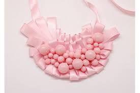 collares hechos con cintas y perlas - Buscar con Google