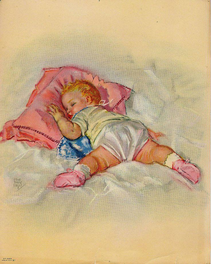 Любовь, старинные открытки спокойной ночи
