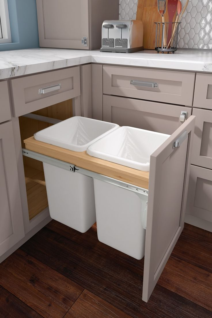 Base Top Mount Wastebasket Double In 2020 Kitchen