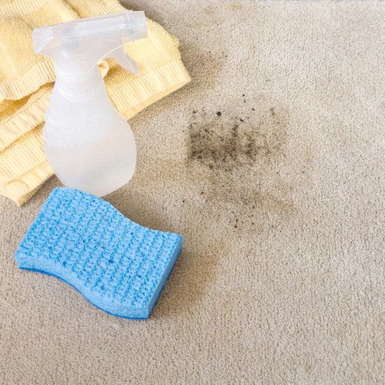Homemade carpet and rug cleaner. Just add dish washing liquid, vinegar, water and baking soda together.