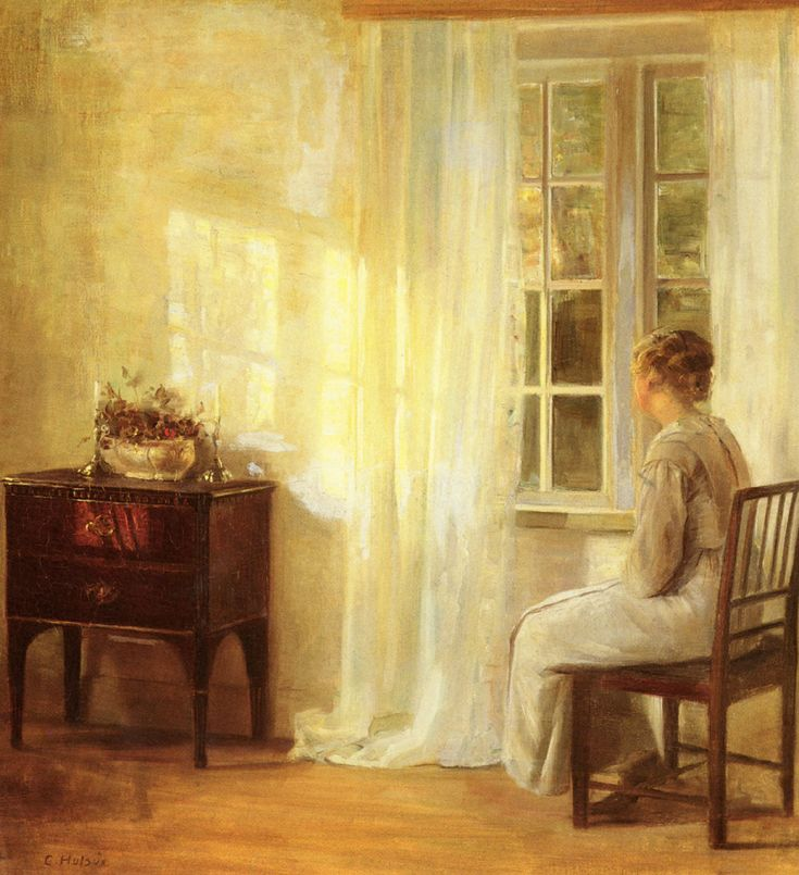 Longings for beauty and a desire to reflect on and speak one's thoughts - all surface in front of the window