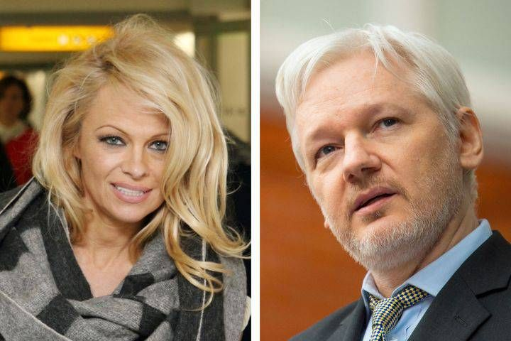 Pamela Anderson on rumours she's dating Julian Assange: 'It's no secret, he is one of my favourite people' - National   Globalnews.ca (Photo via PA Wire/PA Photos/KEYSTONE Press)