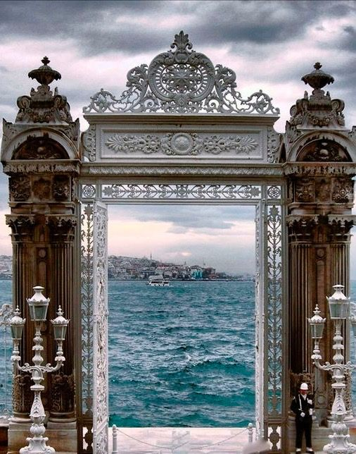 Gate to the Bosphorus at the Dolmabahçe Sarayı Palace in İstanbul, Turkey