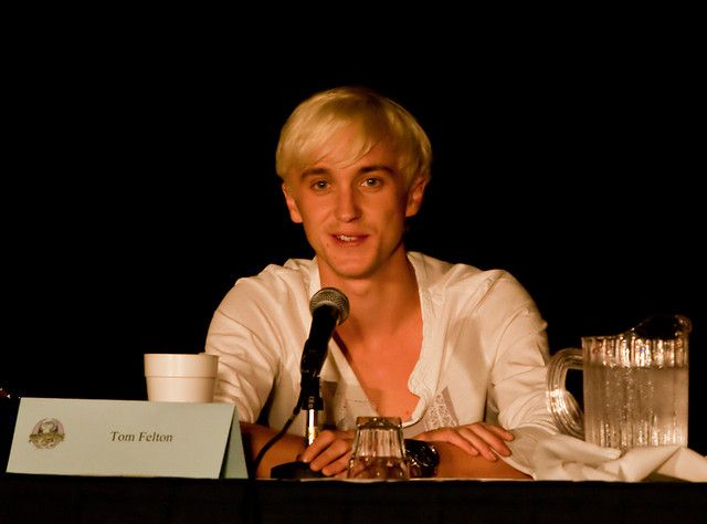 Harry Potter actor Tom Felton, who plays Draco Malfoy, says in a recent interview that he is a big fan of the Hunger Games books and movie including his girlfriend. He is also interested in Finnick Odair character. #THG #TheHungerGames #HungerGames