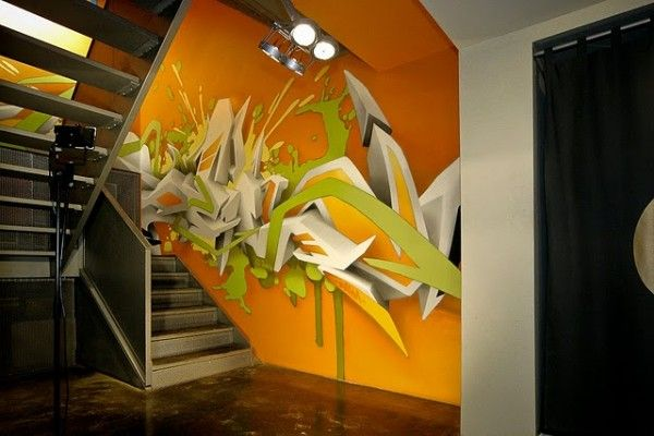 artist: Daim Luenenburg - one of the best graffiti in 3D letters