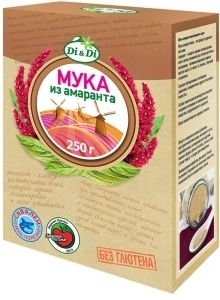 Organic shop : Мука Мука амарантовая без глютена Первого сорта, Di&Di, 250 г