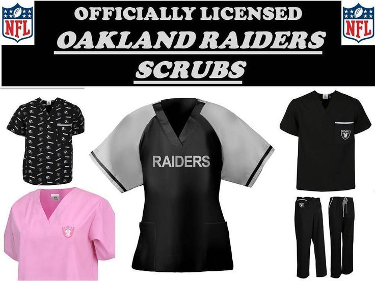 OAKLAND RAIDERS SCRUB TOP-OAKLAND RAIDERS SCRUB PANTS-OAKLAND RAIDERS NFL SCRUBS | Clothing, Shoes & Accessories, Uniforms & Work Clothing, Scrubs | eBay!