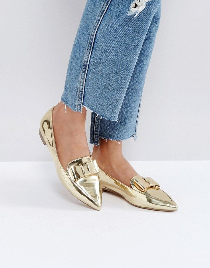 ASOS LATTER Loafer Ballet Flats - Gold